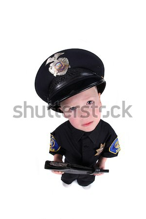 Boy Dressed up as a Police Officer Stock photo © tobkatrina