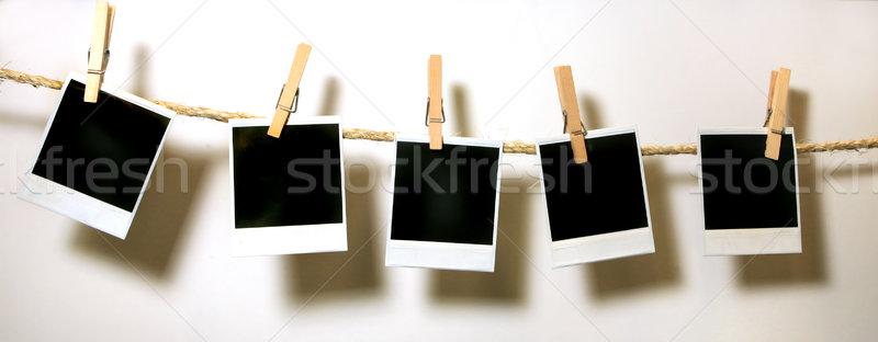Enforcamento vintage polaroid documentos grunge Foto stock © tobkatrina