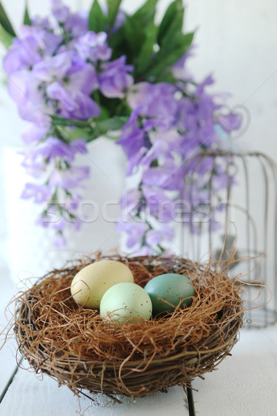 Easter Holiday Themed Still Life Scene in Natural Light Stock photo © tobkatrina