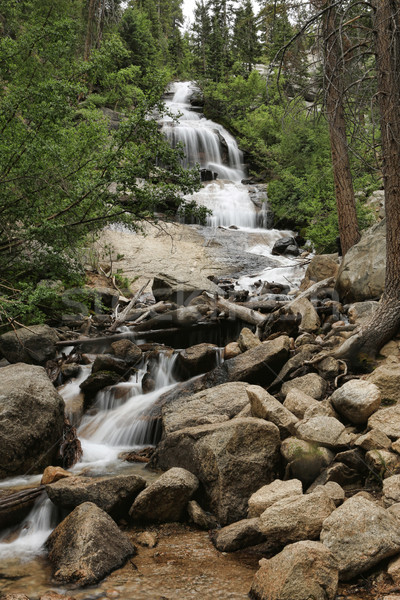 Beautiful Waterfall at Mount Whitney in California  Stock photo © tobkatrina