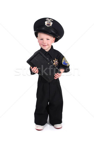 Young Police Officer Holding a Ticket Book  Stock photo © tobkatrina
