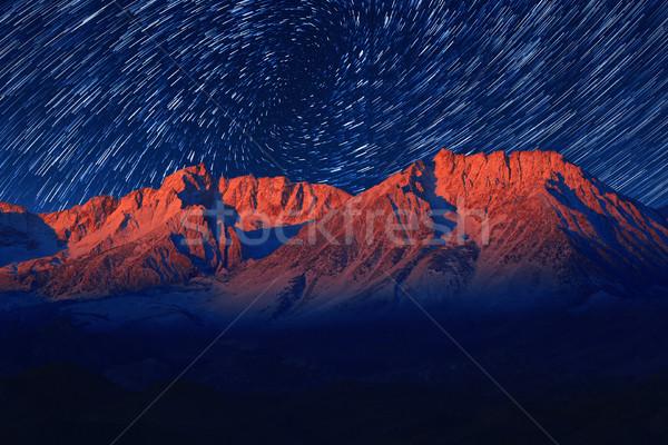 Noc ekspozycja star niebo wir Zdjęcia stock © tobkatrina