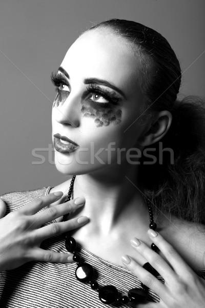 モデル 極端な を構成する スタジオ ハイファッション 顔 ストックフォト © tobkatrina