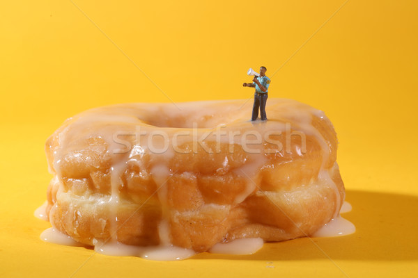 Police Officers in Conceptual Food Imagery With Donuts Stock photo © tobkatrina