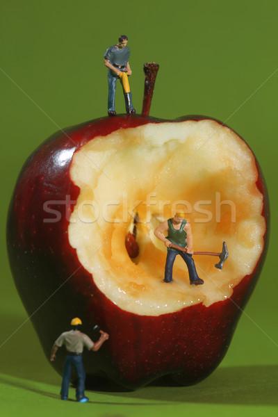 建設 労働 リンゴ ミニチュア 緑 ストックフォト © tobkatrina