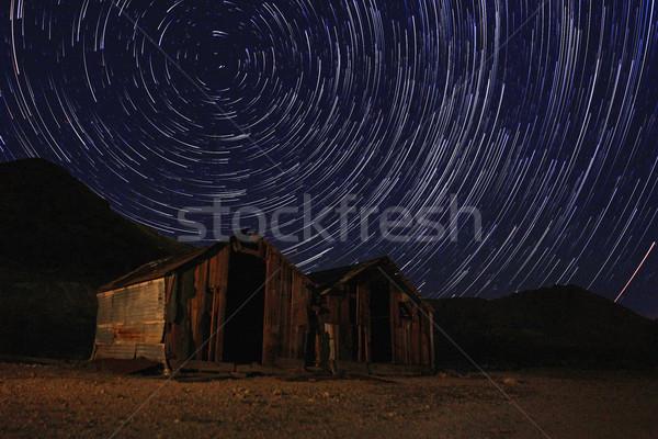 Gece maruz kalma star gökyüzü ölüm vadi Stok fotoğraf © tobkatrina