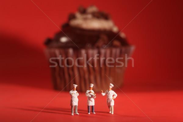 Ciekawy miniatura funny urodziny Zdjęcia stock © tobkatrina