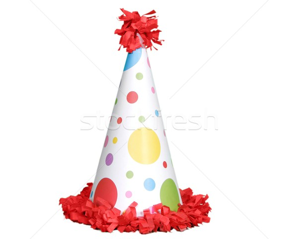Red Birthday Hat on White Background Stock photo © tobkatrina