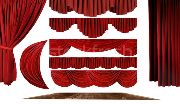Theater Elements to Create Your Own Stage Background Stock photo © tobkatrina