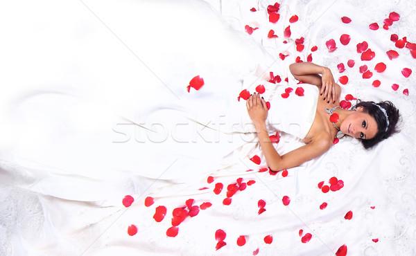 肖像 小さな 花嫁 結婚 ブライダル 若い女性 ストックフォト © tobkatrina