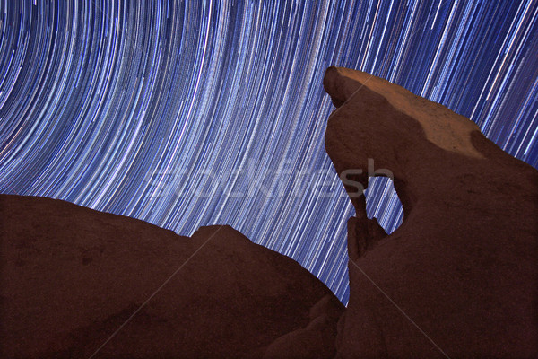 Long Exposure over the Rocks of Joshua Tree Park Stock photo © tobkatrina