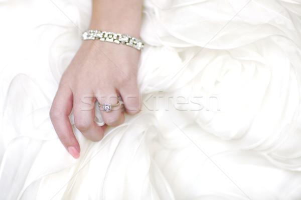 リング 花嫁 ドレス コピースペース 手 家族 ストックフォト © tobkatrina