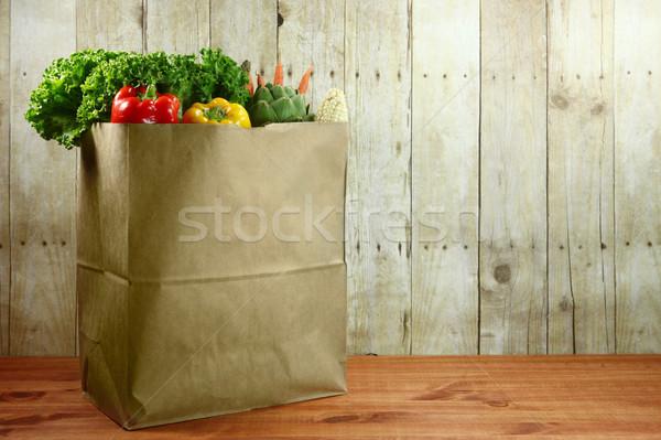 Foto d'archivio: Bag · alimentari · produrre · legno · alimentare