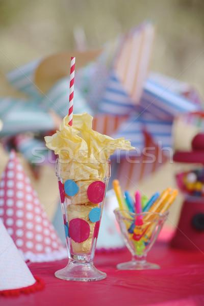 Bright Birthday Party Celebration Decorations Foto stock © tobkatrina
