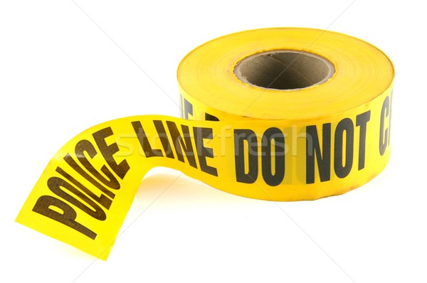 Police Tape Do Not Cross on White Background  Stock photo © tobkatrina