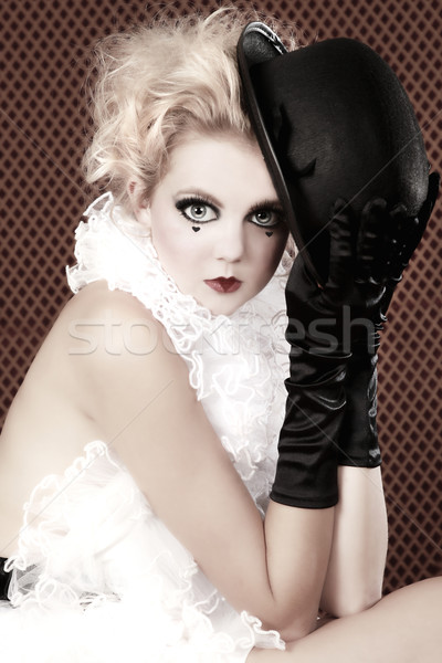 Beautiful Woman Mime Acting in a Show Stock photo © tobkatrina