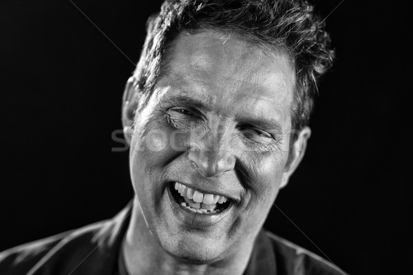 Portré drámai kifejező férfi jóképű arc Stock fotó © tobkatrina