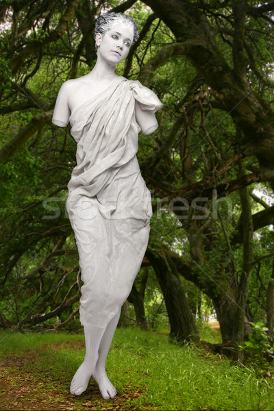 Stock photo: Marbe Live Statue of a Woman Outdoors
