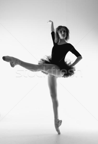 Stockfoto: Elegante · balletdanser · artistiek · verlichting · mooie · meisje