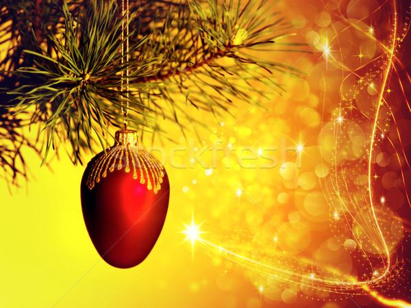рождество фоны красоту bokeh дизайна огня Сток-фото © tolokonov