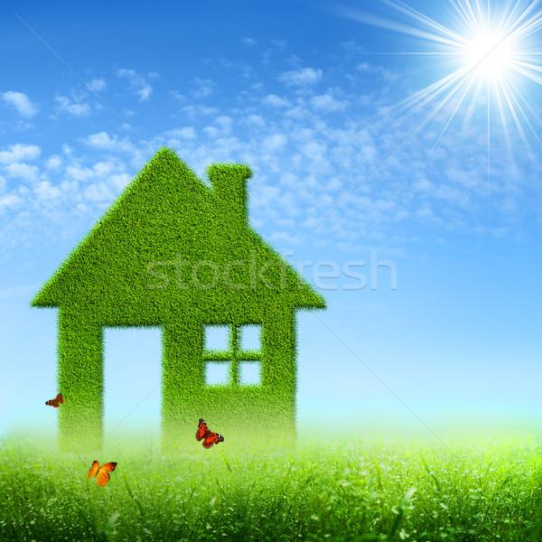 Eco casa abstrato ambiental fundos céu Foto stock © tolokonov