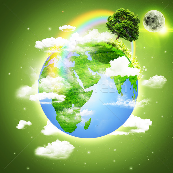 Planet Earth. Abstract environmental backgrounds Stock photo © tolokonov