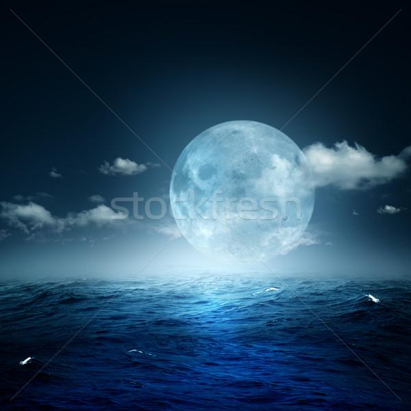 Night on the sea, natural backgrounds Stock photo © tolokonov