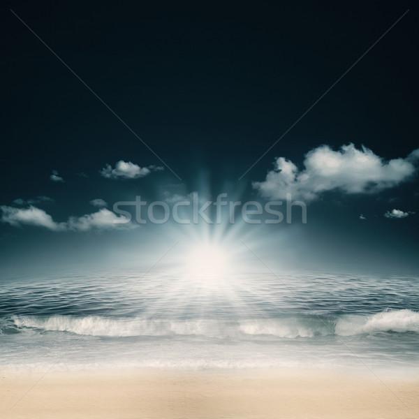 Estate giorno mare spiaggia abstract ambientale Foto d'archivio © tolokonov