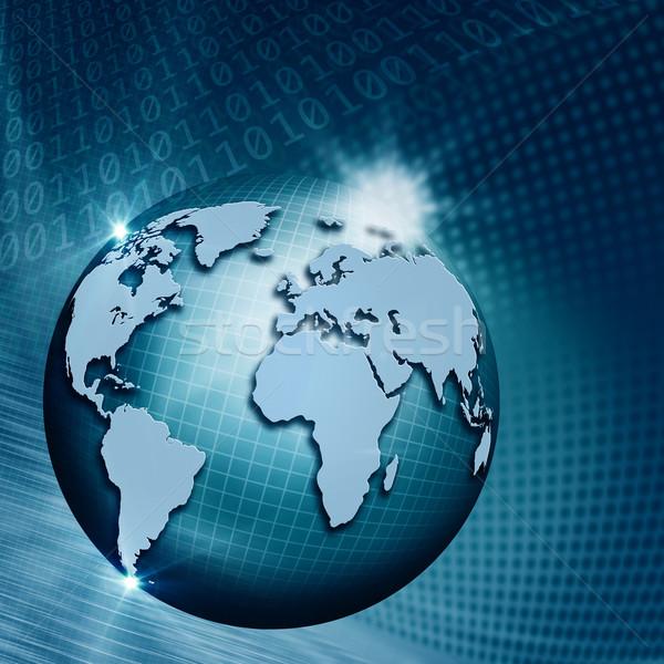 глобальный Информационные технологии аннотация Техно фоны мира Сток-фото © tolokonov