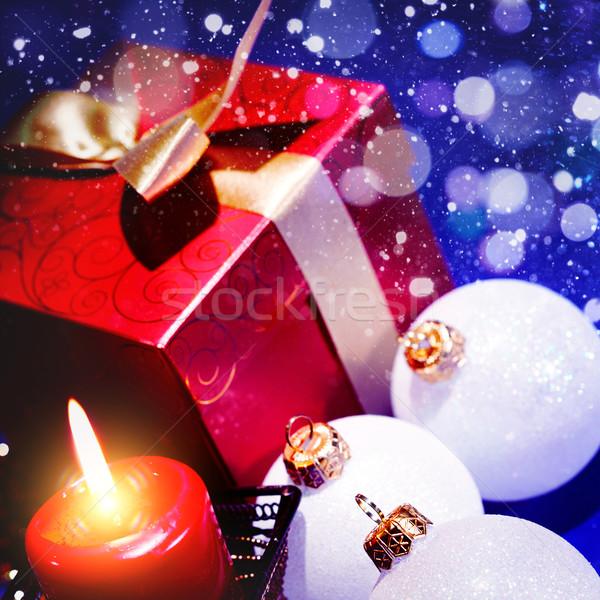Abstract Natale design party fuoco luce Foto d'archivio © tolokonov