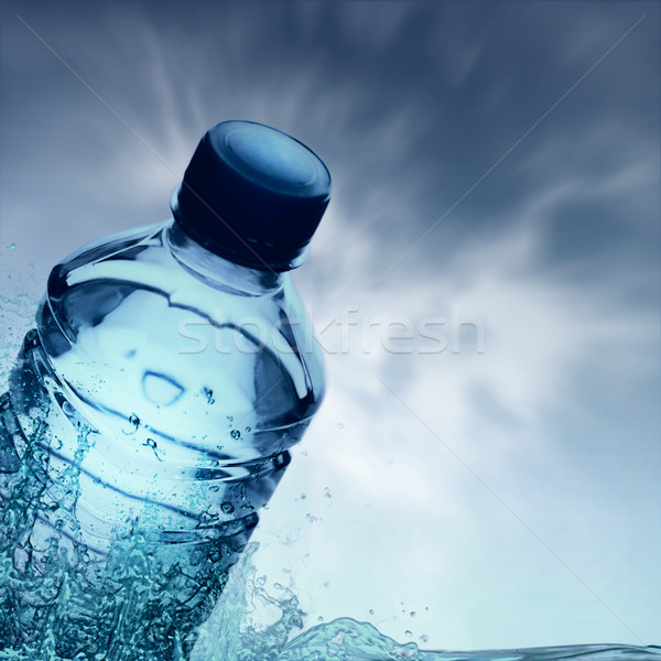 Purified spring water in the bottle Stock photo © tolokonov
