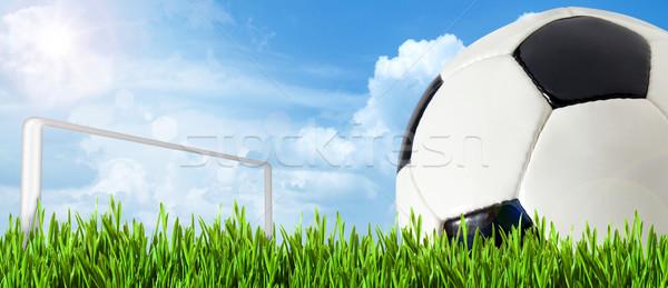 Abstract voetbal voetbal achtergronden hemel gras Stockfoto © tolokonov