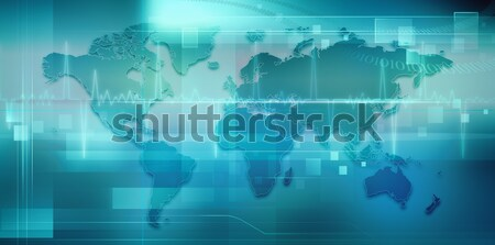 Abstract techno backgrounds with Earth map for your design Stock photo © tolokonov