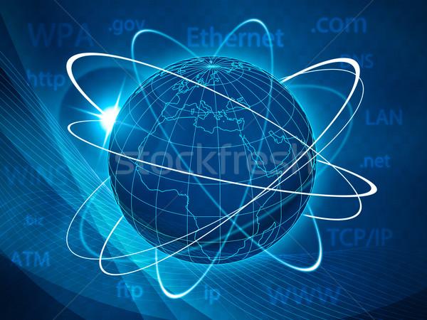 Moderno comunicazioni abstract techno sfondi internet Foto d'archivio © tolokonov
