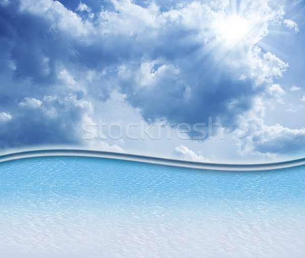 Abstract skies background with copy space Stock photo © tolokonov