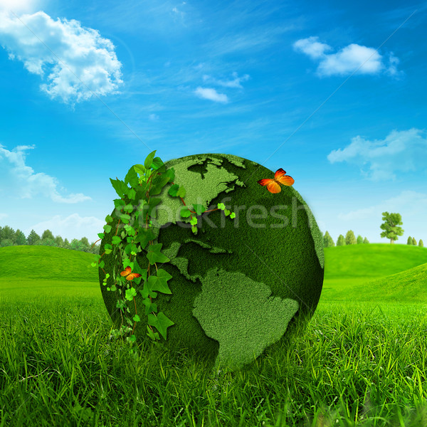 Green Earth. Abstract environmental backgrounds Stock photo © tolokonov
