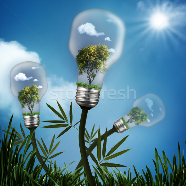 Abstract energy savings and environmental backgrounds Stock photo © tolokonov
