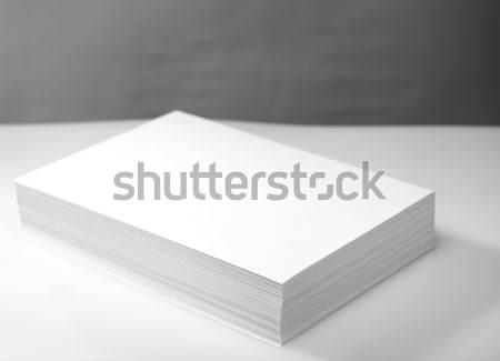 Stack of white printer and copier paper  Stock photo © tolokonov