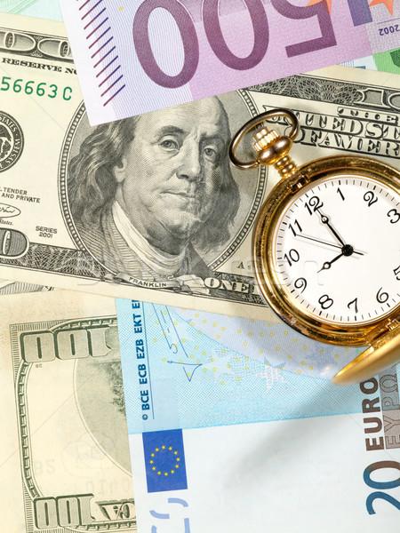 Time to make money. Money background Stock photo © tolokonov
