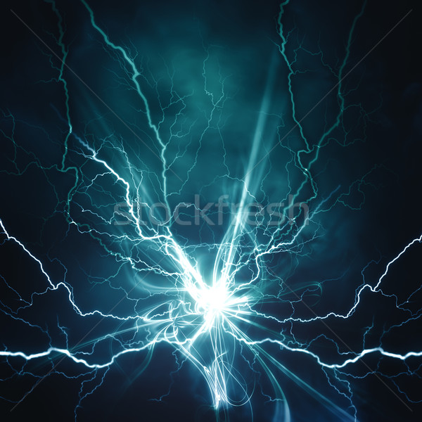 Electric lighting effect, abstract techno backgrounds for your d Stock photo © tolokonov