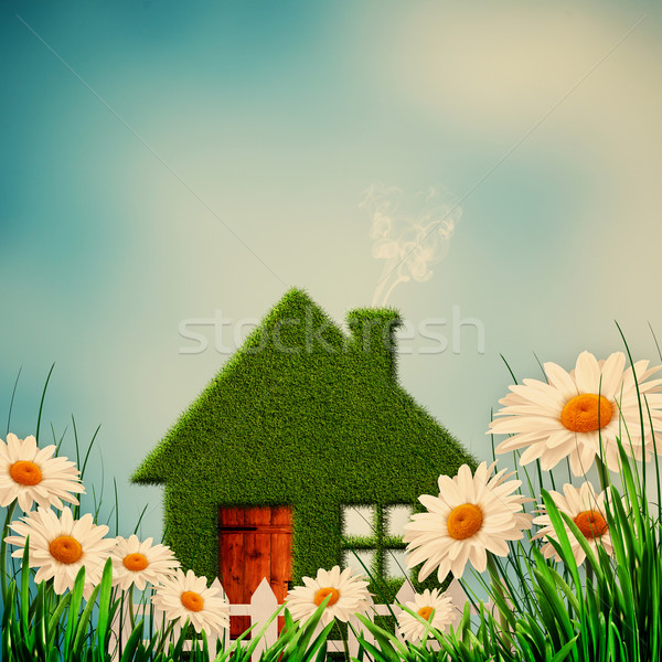 Green House. Instagram colorized natural backgrounds Stock photo © tolokonov