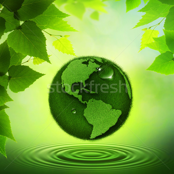 Verde terra abstrato ambiental fundos água Foto stock © tolokonov