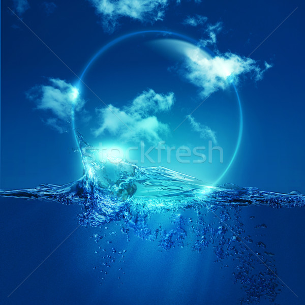Water bubble over ocean wave, environmental backgrounds Stock photo © tolokonov