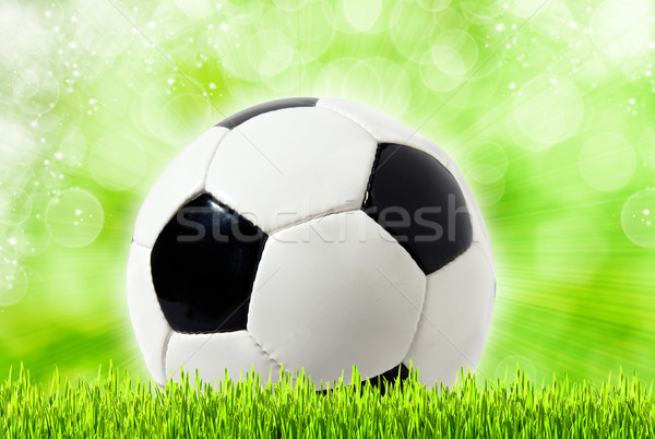 Football abstract backgrounds with unfocused bokeh Stock photo © tolokonov