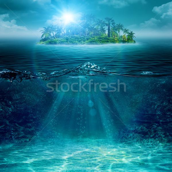 только острове океана аннотация окружающий фоны Сток-фото © tolokonov