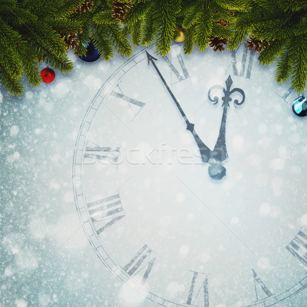 Countdown to New Year, abstract holidays backgrounds for your de Stock photo © tolokonov