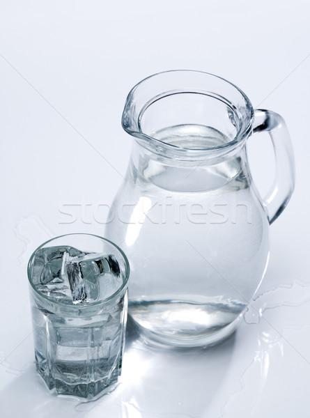Printemps eau douce verre résumé boire Photo stock © tolokonov