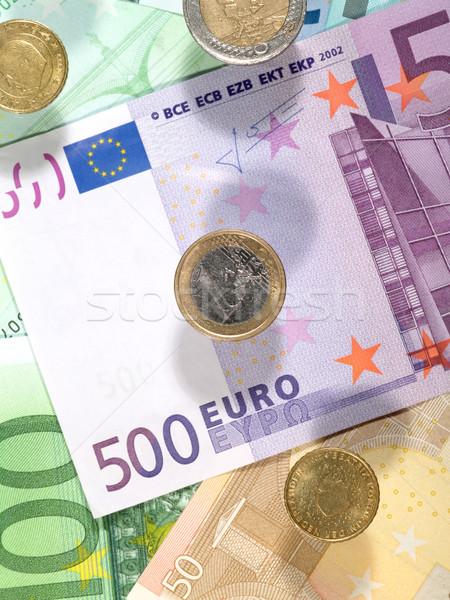 Soldi euro monete banca contanti Foto d'archivio © tolokonov