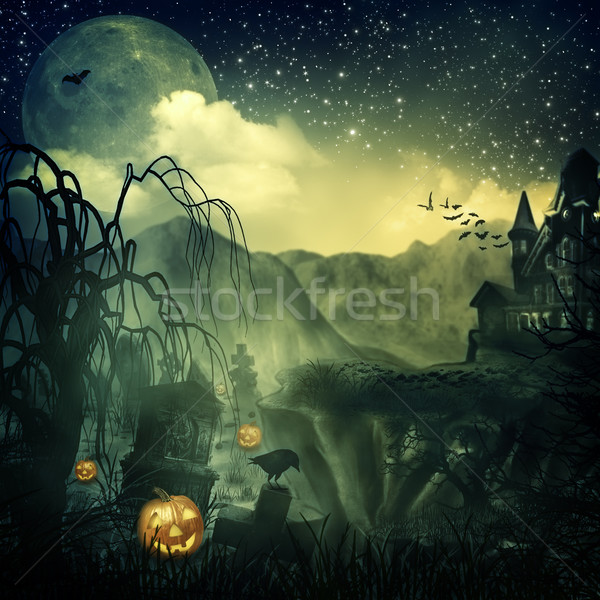 Scary film abstract halloween achtergronden ontwerp Stockfoto © tolokonov