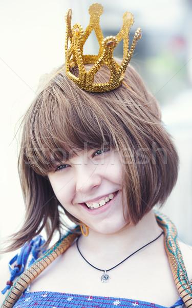 Little princess, beauty female portrait Stock photo © tolokonov